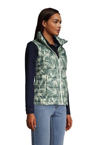 Women's Petite Down Winter Puffer Vest Print