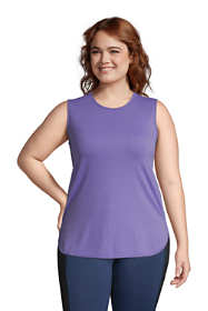 Women's Plus Size Moisture Wicking UPF Sun Crewneck Tunic Tank Top