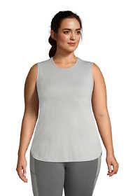 Women's Plus Size Moisture Wicking UPF Sun Crewneck Tunic Tank Top