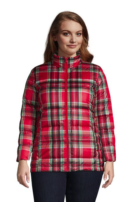 Women's Plus Size Down Winter Puffer Jacket Print