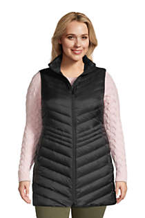 Women's Plus Size Ultralight Packable Down Vest, Front