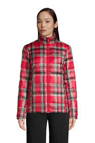 Women's Petite Down Winter Puffer Jacket Print