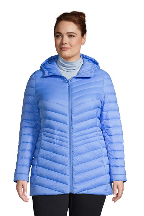 Women's Plus Size Ultralight Packable Down Jacket with Hood