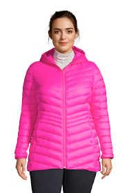 Women's Plus Size Ultralight Packable Down Jacket with Hood