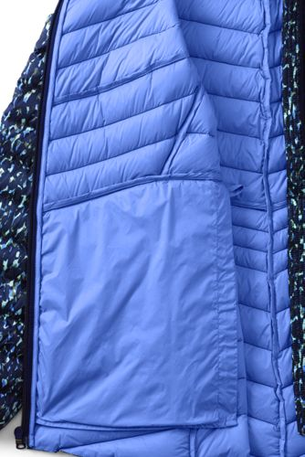Women's Tall Ultralight Packable Down Jacket with Hood Print