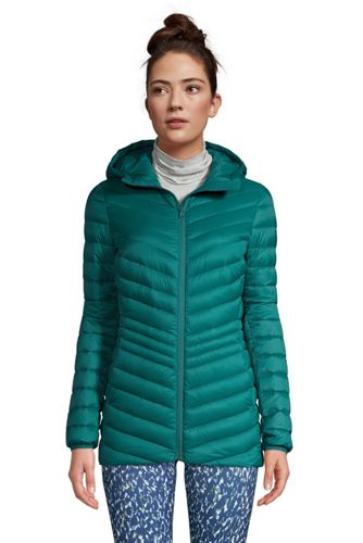 Women's Petite Ultra Light Packable Down Jacket with Hood