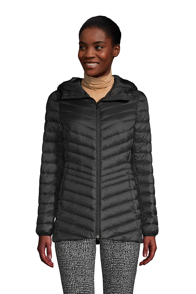 Women's Tall Ultralight Packable Down Jacket with Hood, Front