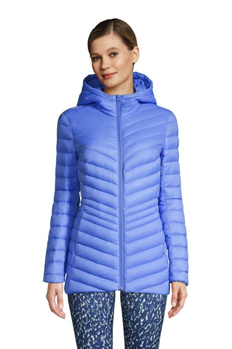 Women's Tall Ultralight Packable Down Jacket with Hood