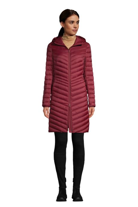 Women's Petite Ultralight Packable Down Coat With Hood