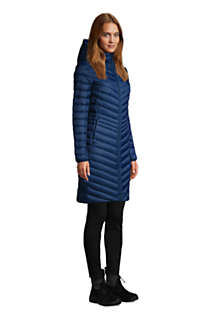 Women's Tall Ultralight Packable Down Coat With Hood, alternative image