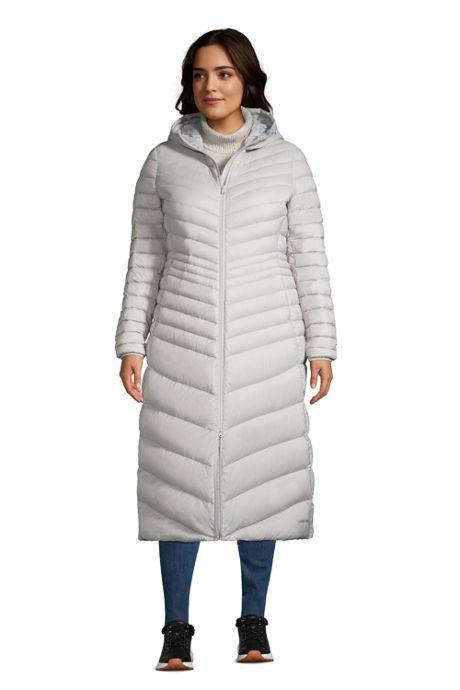 Women's Plus Size Ultralight Maxi Long Down Coat with Hood