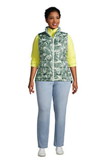 Women's Plus Size Down Winter Puffer Vest Print, alternative image