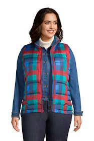 Women's Plus Size Down Winter Puffer Vest Print