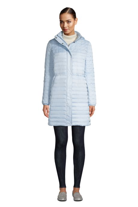 Women's Petite Fleece Lined Insulated Winter Coat with Hood
