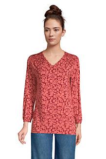 Women's Jersey Knit V-neck Top