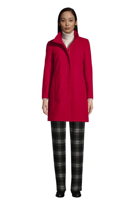 Women's Insulated Long Wool Dress Coat