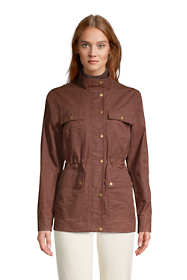 Women's Waxed Water Resistant Utility Cotton Jacket