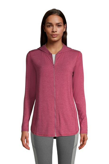 Women's Moisture Wicking UPF Sun Full Zip Hoodie Tunic