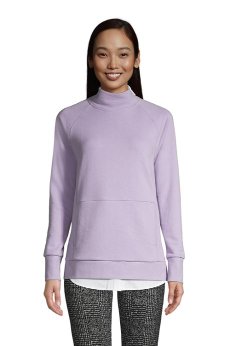 Women's Petite Serious Sweats Funnel Neck Long Sleeve Sweatshirt