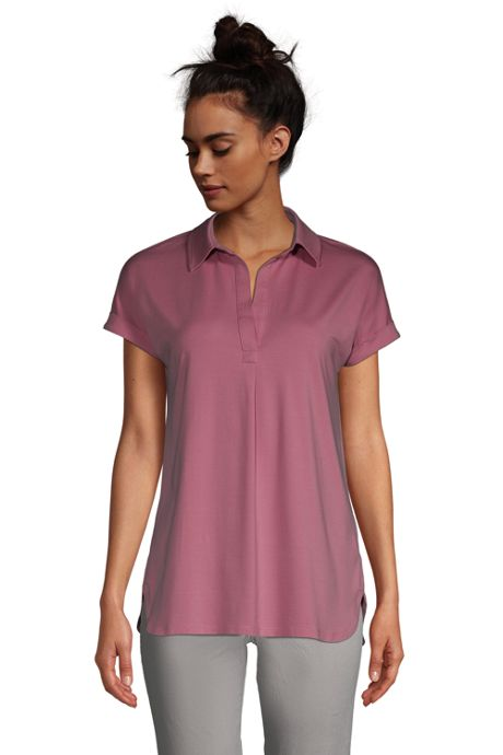 Women's Lightweight Relaxed Fit Short Sleeve Tunic Top