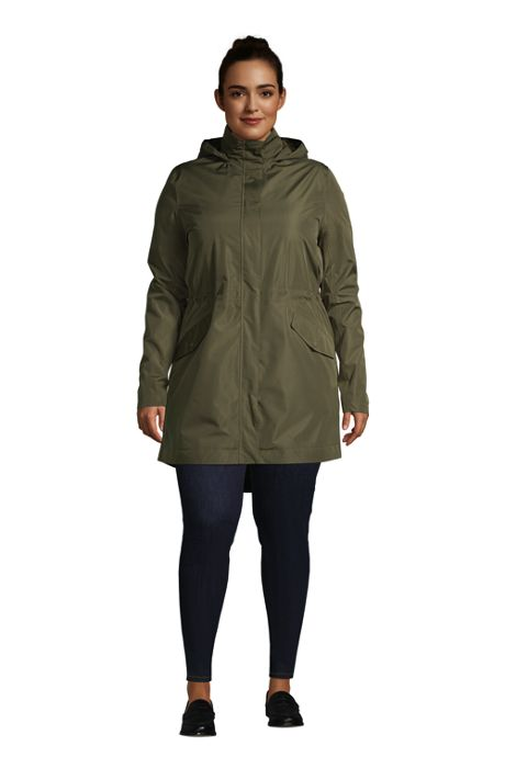 Women's Plus Size Insulated 3 in 1 Rain Parka