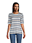 Women's Elbow Sleeve Cotton Modal Button Shoulder T-Shirt