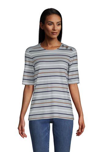 Shirt mit halblangen Ärmeln Gestreift für Damen