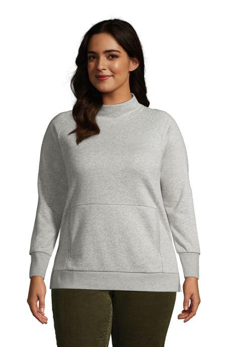 Women's Plus Size Serious Sweats Funnel Neck Long Sleeve Sweatshirt
