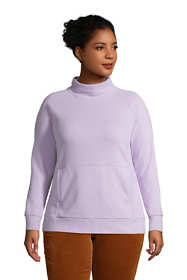 Women's Plus Size Serious Sweats Funnel Neck Long Sleeve Sweatshirt