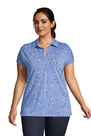 Women's Plus Size Lightweight Relaxed Fit Short Sleeve Tunic Top