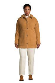 Women's Plus Size Cozy Sherpa Fleece Teddy Coat