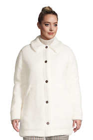 Women's Plus Size Cozy Sherpa Fleece Teddy Coat