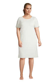Women's Plus Size Lounge Knit T-shirt Pajama Dress