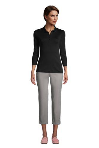 Women's Petite Supima Cotton 3/4 Sleeve Polo Shirt