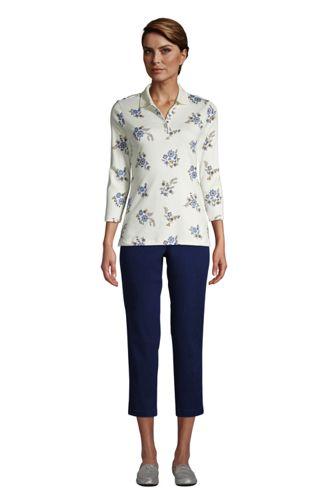 Women's Supima Cotton 3/4 Sleeve Polo Shirt