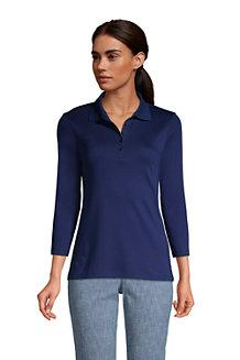 Women's Three-Quarter Sleeve Supima Polo Shirt