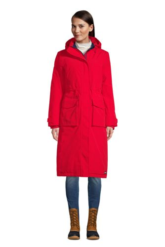 Women's Squall  Waterproof Hooded Stadium Long Coat