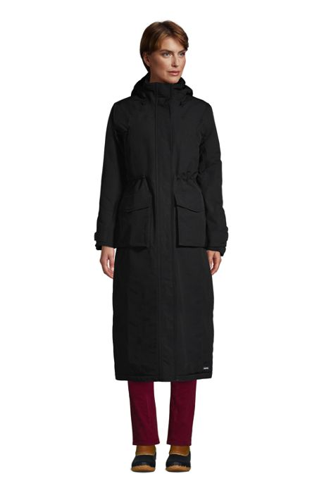 Women's Petite Squall Insulated Waterproof Stadium Long Winter Coat with Hood