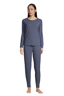 Women's Brushed Jersey Slim Leg Loungewear Pyjamas