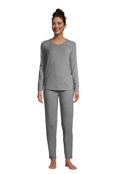 Women's Lounge Pajama Set Long Sleeve T-shirt and Slim Leg Pants