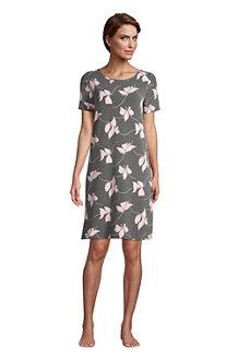 Jersey-Nachthemd mit kurzen Ärmeln für Damen