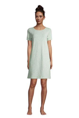 Women's Short Sleeve Brushed Jersey Loungewear Dress