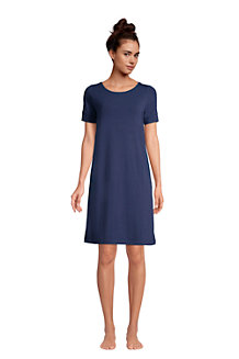 Women's Short Sleeve Brushed Jersey Loungewear Dress