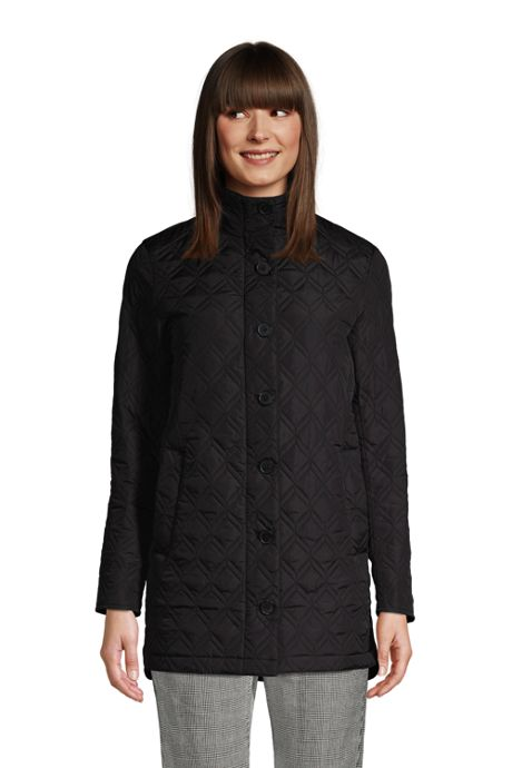 Women's Tall Insulated Packable Quilted Barn Coat