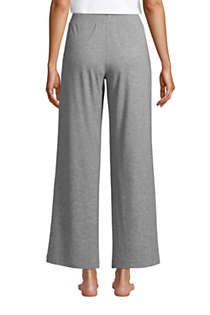 Women's Petite Lounge Mid Rise Wide Leg Crop Pajama Pants, Back
