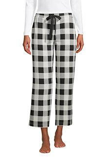 Weite Jersey Pyjama-Hose in 7/8-Länge für Damen