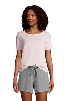 Women's Short Sleeve Cosy Brushed Jersey Loungewear Tee