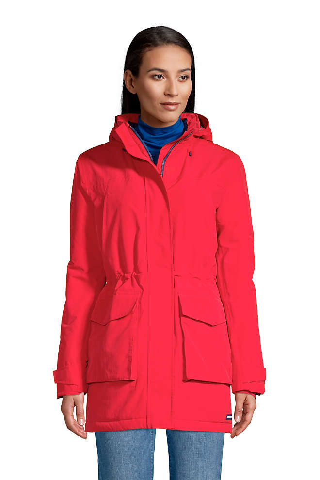 Women's Tall Squall Insulated Waterproof Winter Parka Coat with Hood, Front