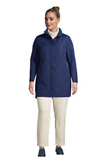 Women's Plus Size Insulated Packable Quilted Barn Coat, alternative image