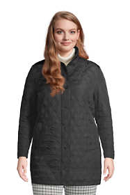 Women's Plus Size Petite Insulated Packable Quilted Barn Coat